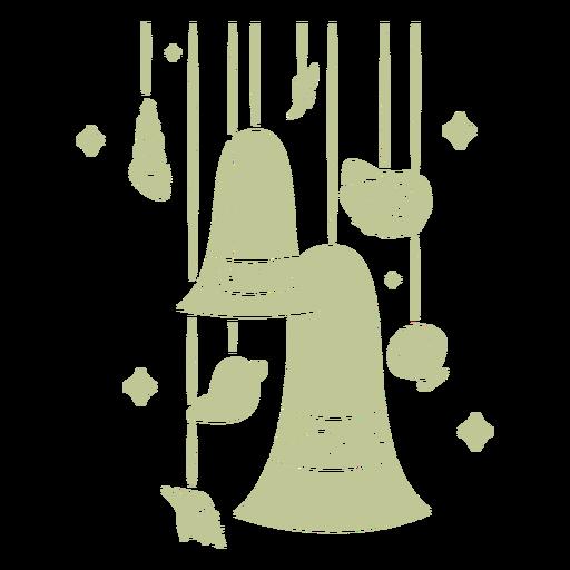 Sillhouette de Natal tropical escovado à mão - 4
