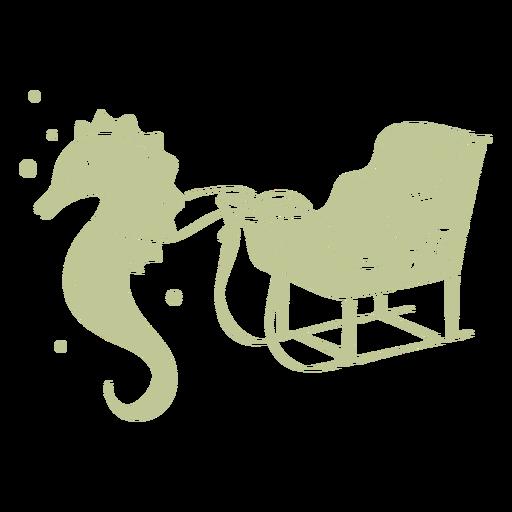 Sillhouette de Natal tropical escovado à mão - 5