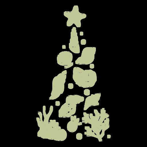 Sillhouette de Natal tropical escovado à mão - 6