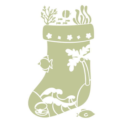 Sillhouette de Natal tropical escovado à mão - 8