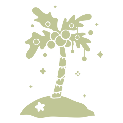 Christmas palm tree cut out