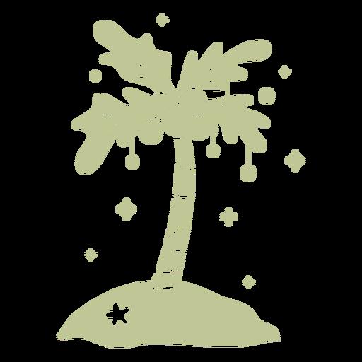 Sillhouette de Natal tropical escovado à mão - 9