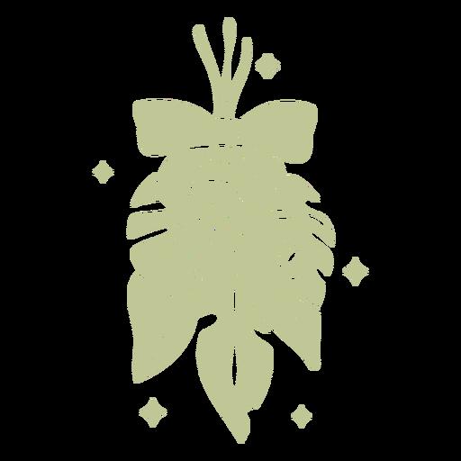 Sillhouette de Natal tropical escovado à mão - 10