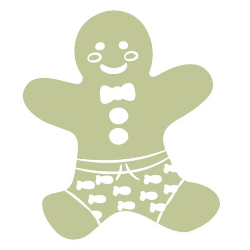Christmas cookie in shorts cut out