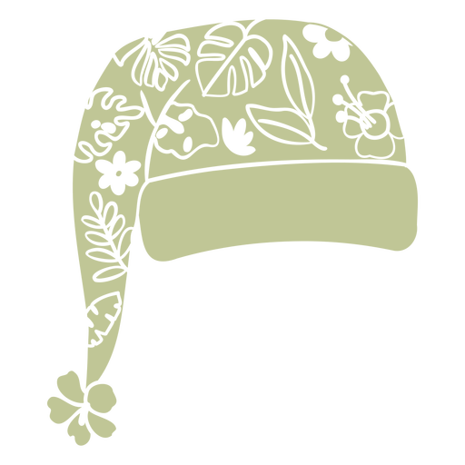 Tropical christmas hat cut out