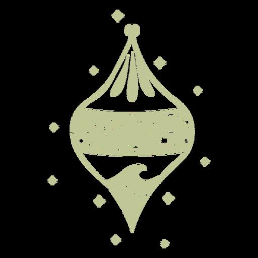 Sillhouette de Natal tropical escovado à mão - 14