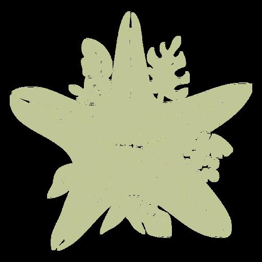 Sillhouette de Natal tropical escovado à mão - 16