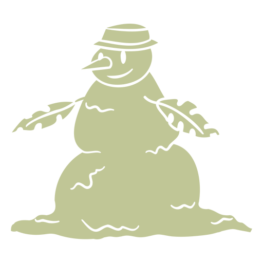 Christmas snowman with leaves cut out