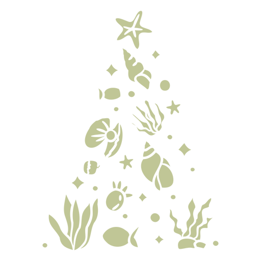 Beach animals christmas tree cut out
