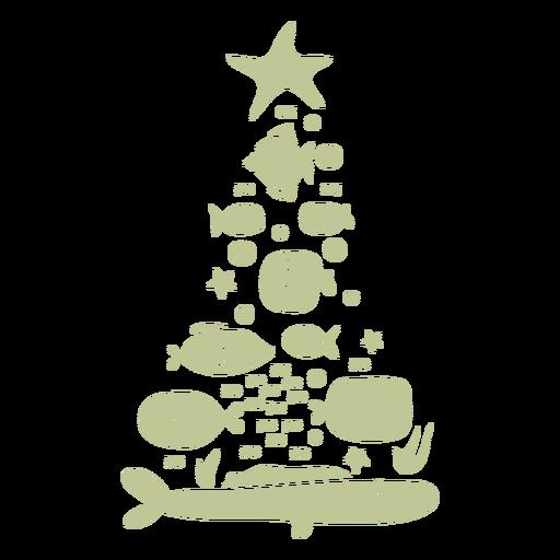 Sillhouette de Natal tropical escovado à mão - 19