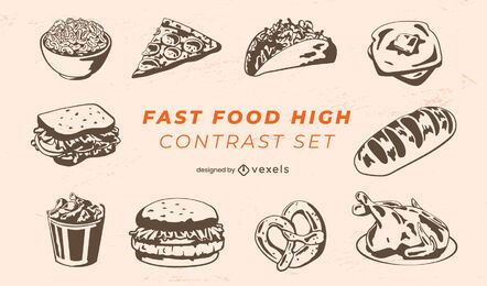 Fast food meals pack
