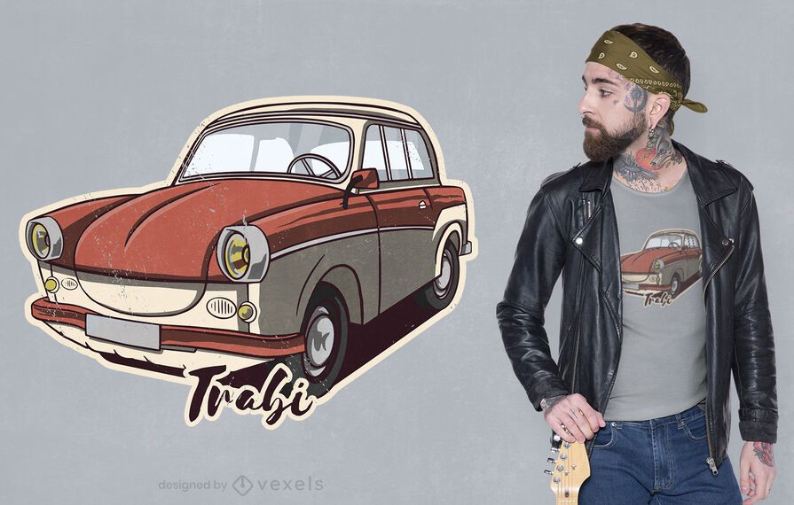 Vintage classic car t-shirt design