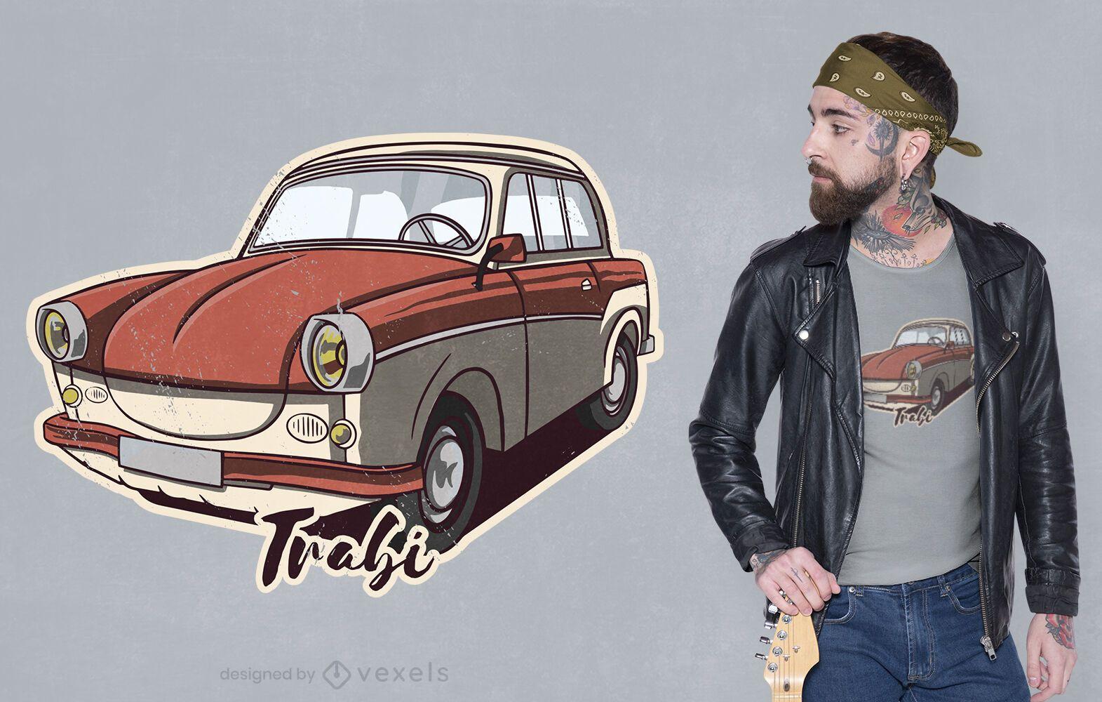 Design de t-shirt de carro clássico vintage