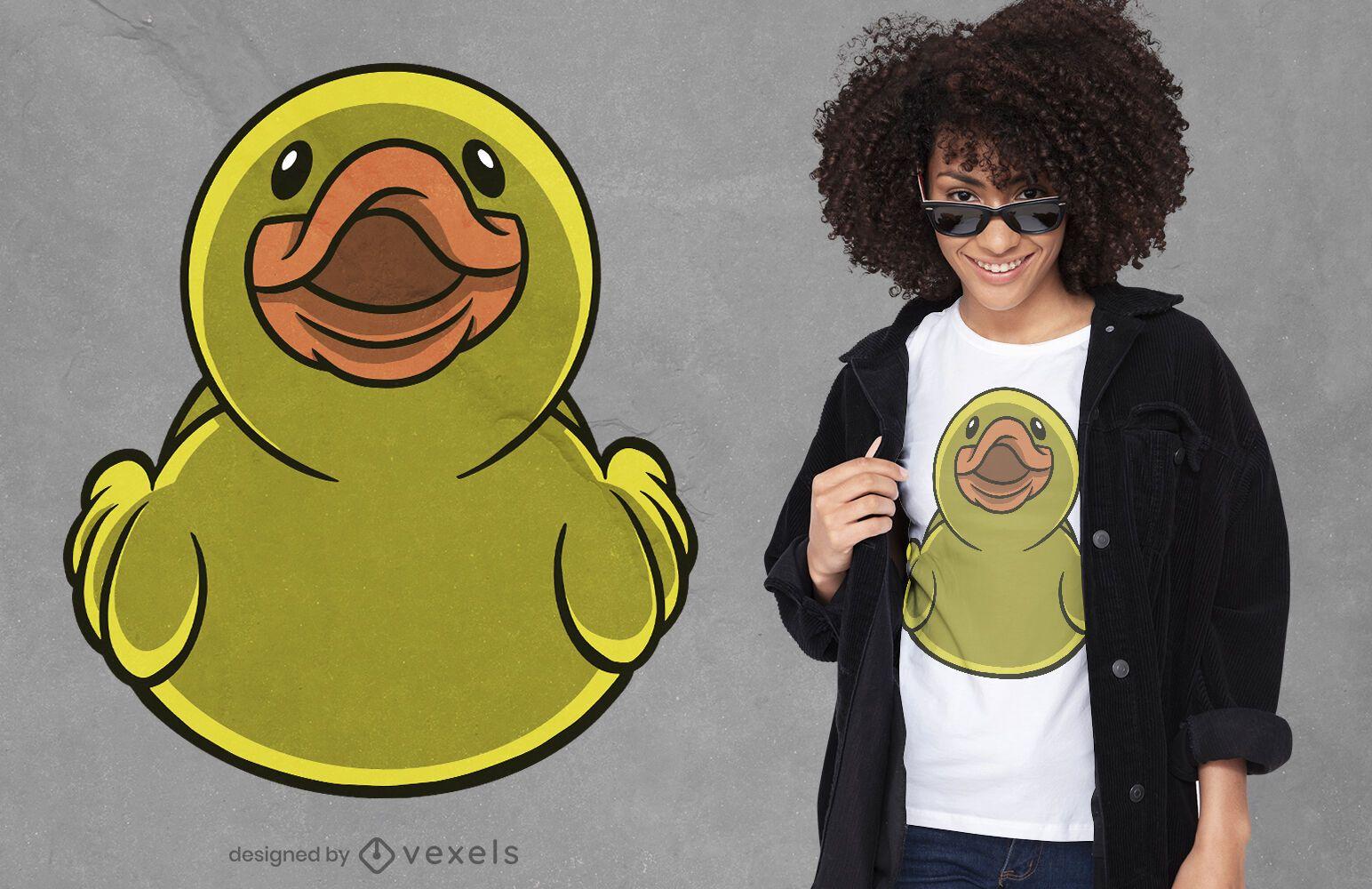 Frontal rubber duck t-shirt design