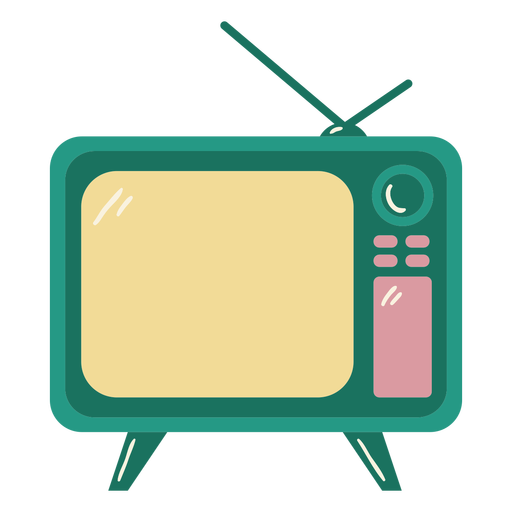 Vintage glossy television