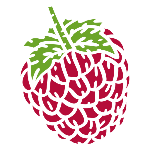 Raspberry color cut out
