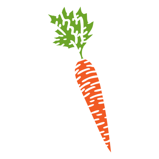 Healthy carrot cut out