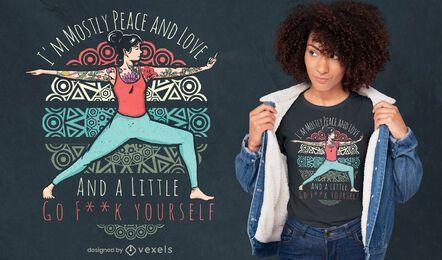 Design de t-shirt com citações atrevidas de ioga