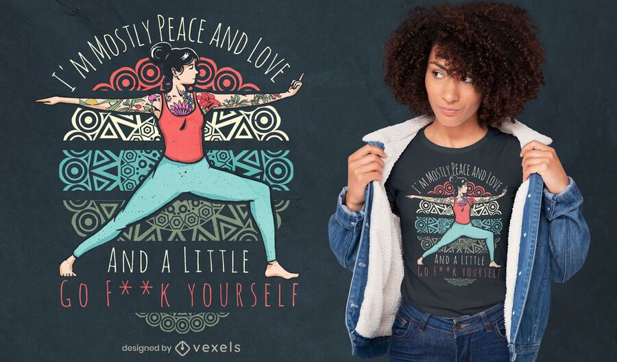 Diseño de camiseta de cita descarada de yoga