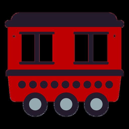 Red trolley car flat