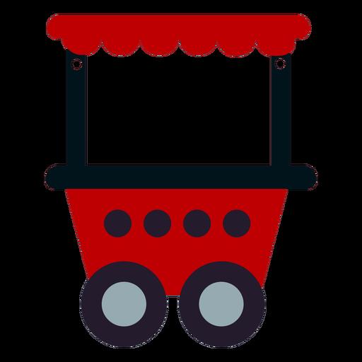 Circus train wagon flat