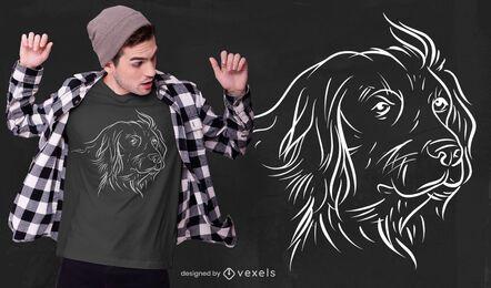Design de t-shirt com linha de arte alemã para cães