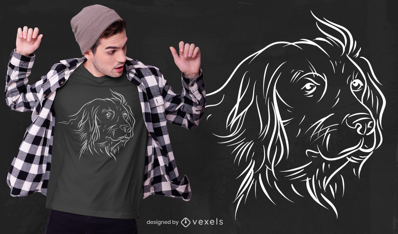 Diseño de camiseta de perro de raza alemana.