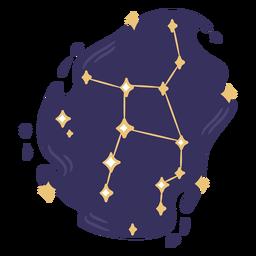 Doodle de color de constelación
