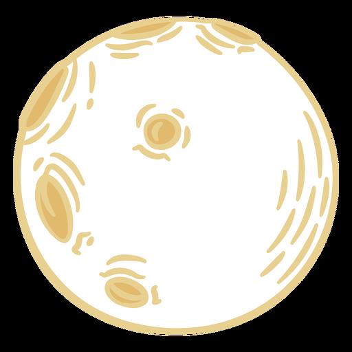 Full moon doodle