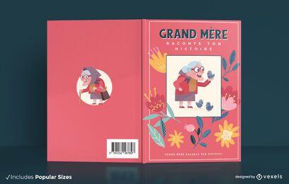 Design da capa do livro da história da avó
