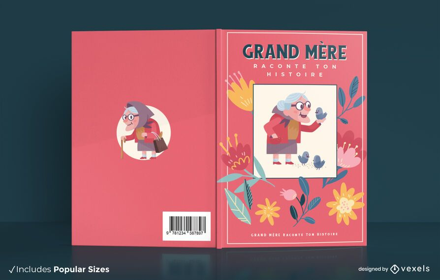 Grandmother's story book cover design