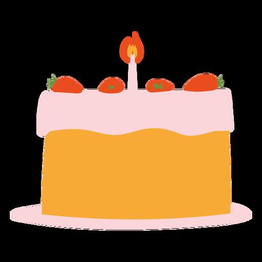 Birthday cake flat