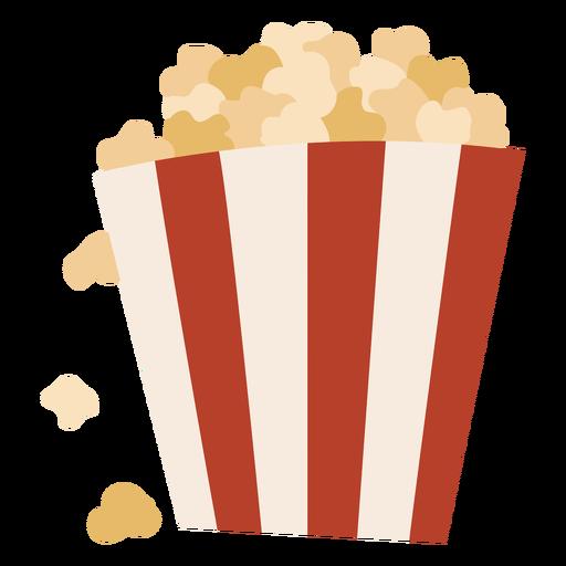 Popcorn in a bag semi flat