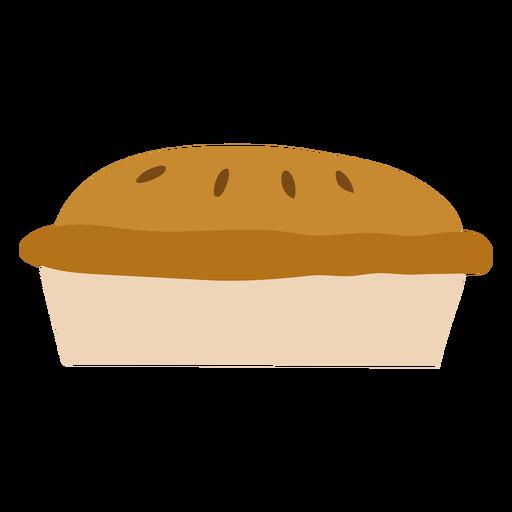 Pie dessert semi flat