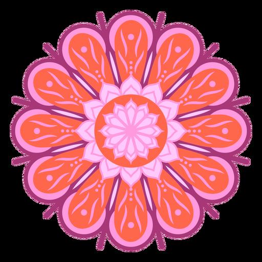 Red and purple flower mandala
