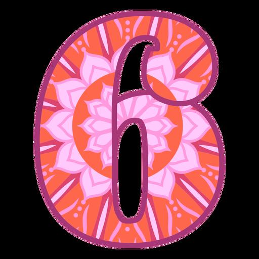 Number 6 mandala