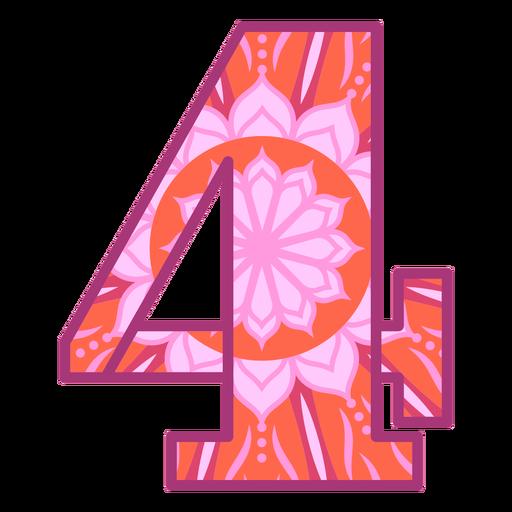 Number 4 mandala