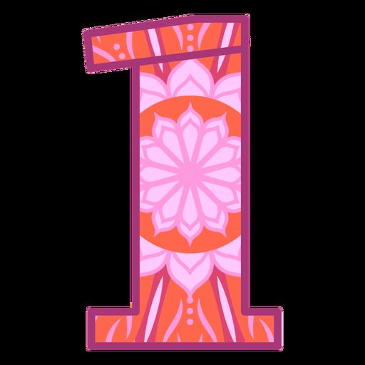 Number 1 mandala