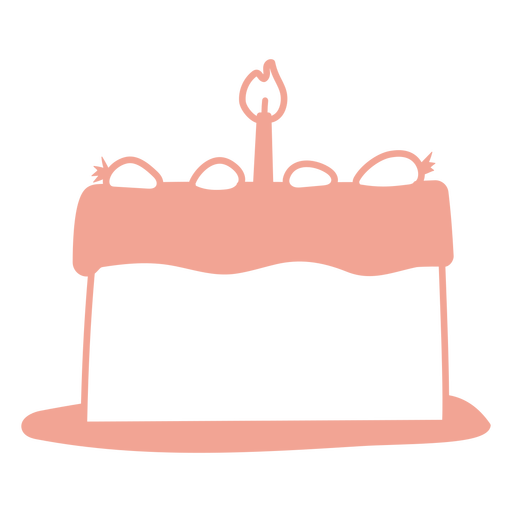 Birthday cake filled stroke