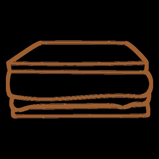 Sandwich filled stroke