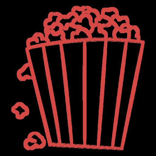 Popcorn bucket simple doodle