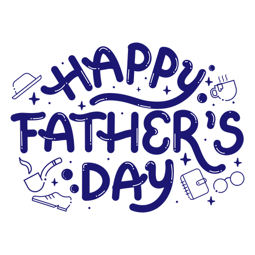 Happy father's day lettering quote
