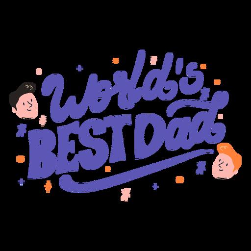 World's best dad quote semi flat