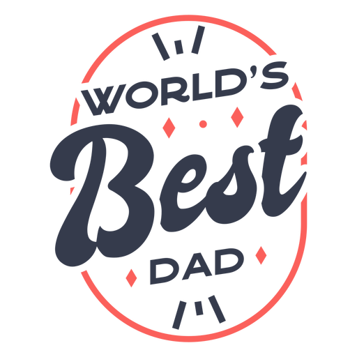 World's best dad quote color stroke