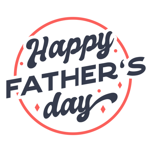 Happy father's day color stroke