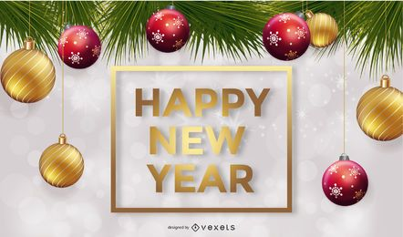 New Year Vector Background Design Element 1