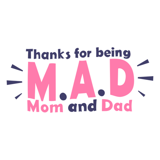 Best mom and dad lettering