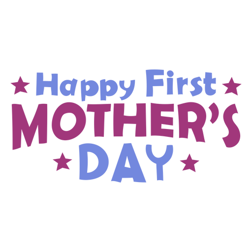 First mother´s day lettering