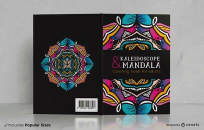 Mandala coloring adults book cover design