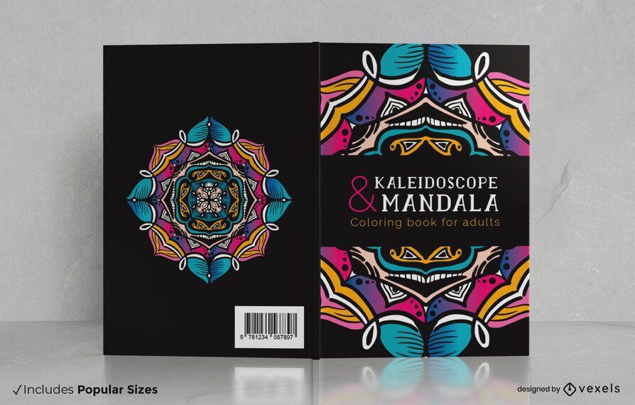 Desenho de capa de livro de adultos para colorir mandala
